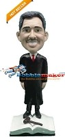 Custom Bobble Head | Male Judge On Law Book Bobblehead | Gift Ideas For Men