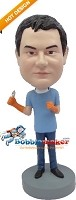 Custom Bobble Head | Male Dentist With Orange Gloves Bobblehead | Gift Ideas For Men