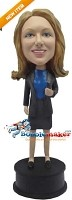 Custom Bobble Head | Executive Female With Jacket Bobblehead | Gift Ideas For Women