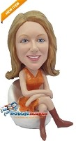 Custom Bobble Head | Seated Office Woman Bobblehead | Gift Ideas For Women