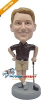 Custom Bobble Head | Male Golfer In Shorts Bobblehead | Gift Ideas For Men