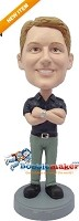Custom Bobble Head | Polo Arms Crossed Man Bobblehead | Gift Ideas For Men