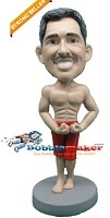 Custom Bobble Head | Muscle Man Flexing Bobblehead | Gift For Men