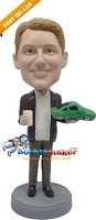 Custom Bobble Head | Male Car Salesman Bobblehead | Gift For Men