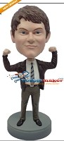 Custom Bobble Head | Flexing Office Man Bobblehead | Gift For Men