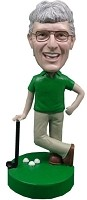 Custom Bobble Head | Male Putting Golfer Bobblehead | Gift Ideas For Men