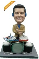 Custom Bobble Head | Drummer With Headphones Bobblehead | Gift Ideas For Men