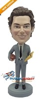 Custom Bobble Head | Football Coach In Suit Custom Bobblehead | Gift Ideas For Men