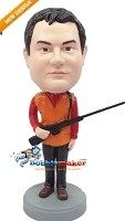 Custom Bobble Head | Hunter With Rifle Bobblehead | Gift Ideas For Men
