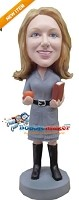 Custom Bobble Head | Young Female School Teacher Bobblehead | Gift Ideas For Women