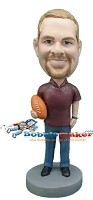Custom Bobble Head | Man With Football Bobblehead | Gift For Men