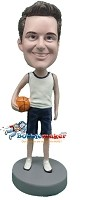 Custom Bobble Head | Casual Man With Basketball Bobblehead | Gift Ideas For Men