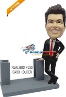 Custom Bobble Head | Business Man With Card Holder Bobblehead | Gift For Men