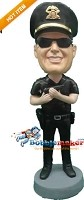Custom Bobble Head | Policeman With Gun Bobblehead | Gift Ideas For Men
