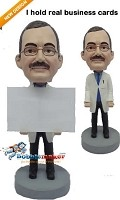 Custom Bobble Head | Male Doctor Business Card Holder Bobblehead | Gift Ideas For Men