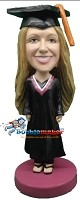 Female Doctoral Graduate bobblehead Doll