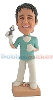 Custom Bobble Head | Male Dentist With Tooth Bobblehead | Gift Ideas For Men