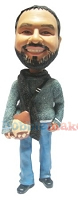 Custom Bobble Head | Sweater And Scarf Male Bobblehead | Gift For Men