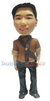 Custom Bobble Head | Sporty Male In Scarf | Gift Ideas For Women