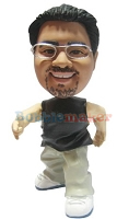 Custom Bobble Head Rapper | Hip Hop Style Med Bobble | Gift Ideas For Men