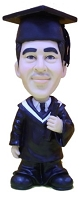 Custom Bobble Head | PhD Graduate Bobblehead | Gift Ideas For Men