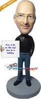 Custom Bobble Head | Male With Sign Bobblehead | Gift For Men
