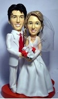 Custom Bobble Head | Old Time Bride And Groom Couple Bobblehead | Gift Ideas For Wedding