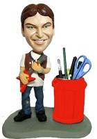 Custom Bobble Head | Guitar Player Pen Holder Bobblehead | Gift Ideas For Men