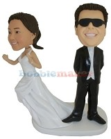 Custom Bobble Head | No Runaways Wedding Bobblehead | Gift Ideas For Wedding