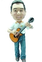 Custom Bobble Head | Acoustic Guitar Player Male Bobblehead | Gift Ideas For Men