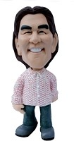 Custom Bobble Head |Button Up Shirt-Jeans Bobblehead | Gift Ideas For Women