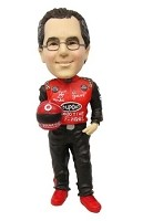 Custom Bobble Head | Race Car Driver With Helmet Bobblehead | Gift Ideas For Men