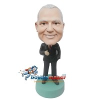 Custom Bobble Head | Executive Male In Suit Bobblehead | Gift Ideas For Men