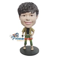 Custom Bobble Head | Casual Beach Boy Bobblehead | Gift For Men