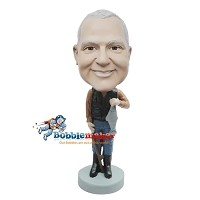 Custom Bobble Head | Fisherman In Vest Bobblehead | Gift Ideas For Men