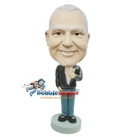 Custom Bobble Head | Female Holding Up Basketball Bobblehead | Gift For Men