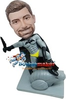 Custom Bobble Head | Batman Superhero Male Bobblehead | Gift For Men