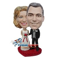 Arm Behind Bride Wedding Couple bobblehead Doll