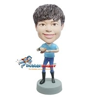 Custom Bobble Head | Boy With Football Bobblehead | Gift For Men