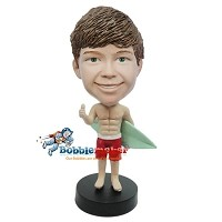 Custom Bobble Head | Boy Surfer Bobblehead | Gift Ideas For Men