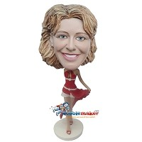 Custom Bobble Head | Sexy Red Dress Woman Bobblehead | Gift Ideas For Women