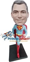 Custom Bobble Head | Superman Running Bobblehead | Gift For Men
