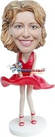 Custom Bobble Head | Monroe Dress Female Custom Bobblehead | Gift Ideas For Women