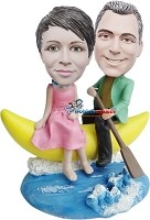 Custom Bobble Head | Couple Sailing Moon Bobblehead | Gifts for Couples