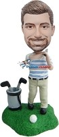 Custom Bobble Head | Golfer In Tee Box Bobblehead | Gift Ideas For Men