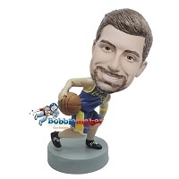 Custom Bobble Head | Basketball Player Dribbling Ball Bobblehead | Gift Ideas For Men