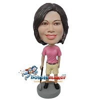 Custom Bobble Head | Woman With Golf Club Bobblehead | Gift Ideas For Women