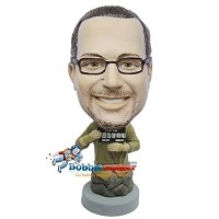 Custom Bobble Head | Mug Shot Man Bobblehead | Gift For Men