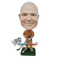 Custom Bobble Head | Golfing Man In Pants Bobblehead | Gift Ideas For Men
