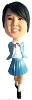 Custom Bobble Head | School Uniform Female Bobblehead | Gift Ideas For Women